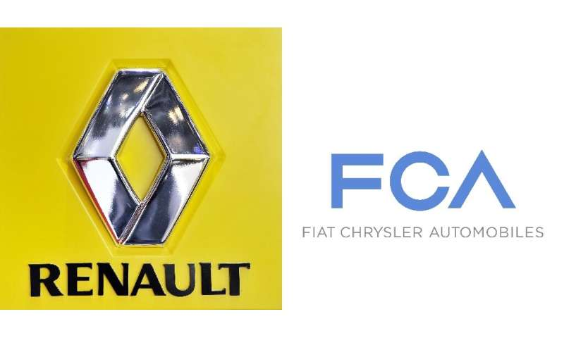 "Renault said it is studying ""with interest"" a 50-50 merger proposal from Fiat Chrysler, which would forge the world's"