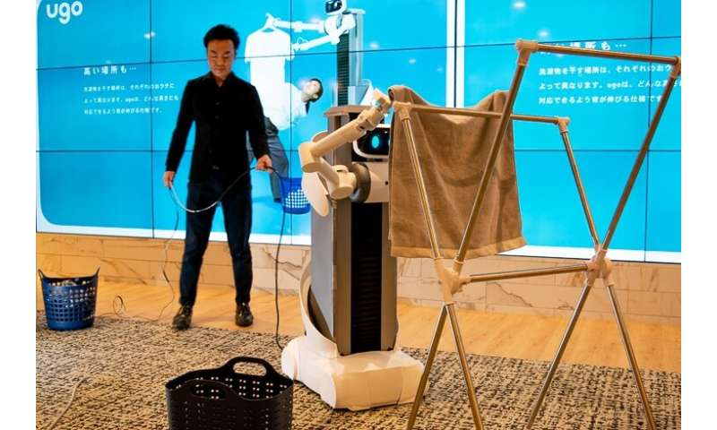 Rent-a-robot for laundry help? That's the plan in Japan
