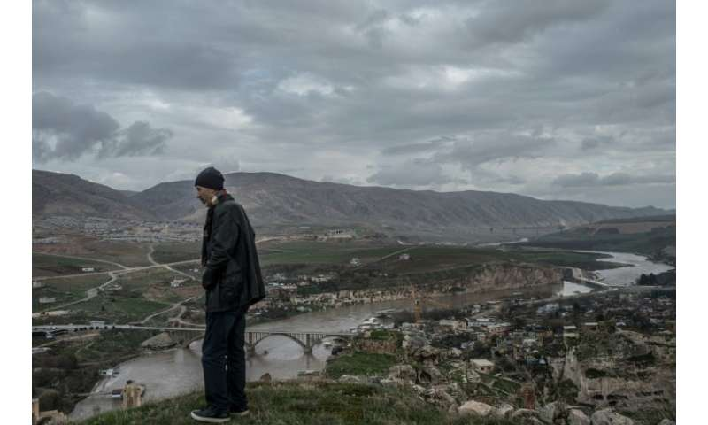 Ridvan Ayhan opposes the flooding of his town Hasankeyf, in southeast Turkey, as part of the Ilisu hydroelectric dam project