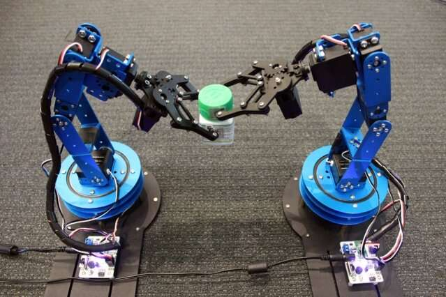 Robots track moving objects using RFID tags to home in on targets