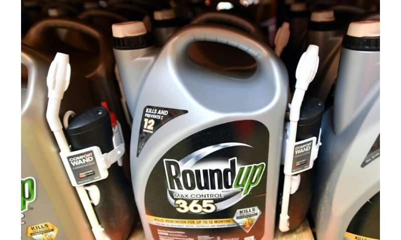 Roundup products are seen for sale at a store in San Rafael, California, before the first US federal court case alleging the pro