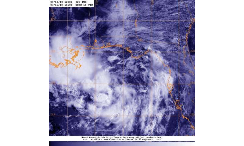 Satellites analyzing developing gulf potential Tropical Cyclone Two
