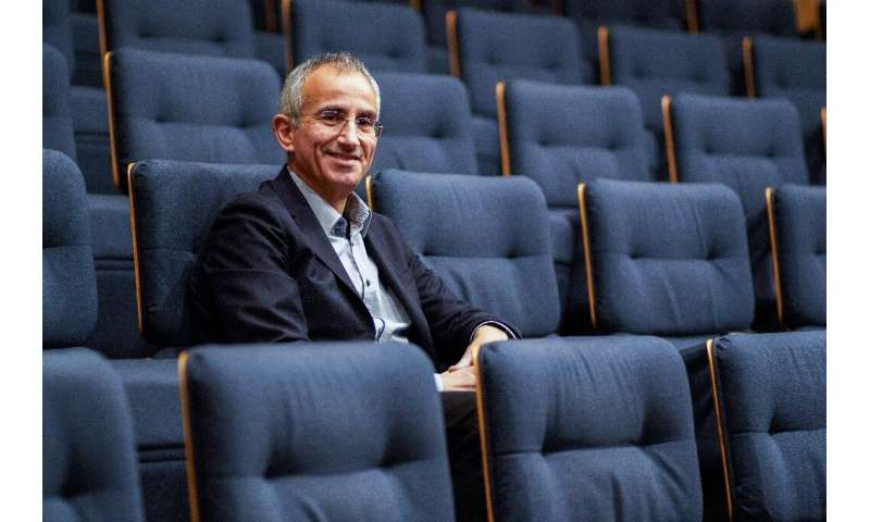 Scientific director of the Telethon Serge Braun poses for a photograph after a press conference to present the Telethon 2018, th