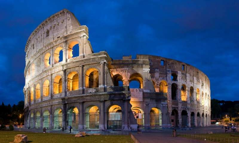 Seemingly dormant geologic fault damaged famous Roman buildings 1,500 years ago