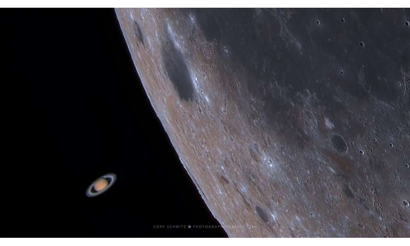 See the moon photobomb saturn in an amazing capture