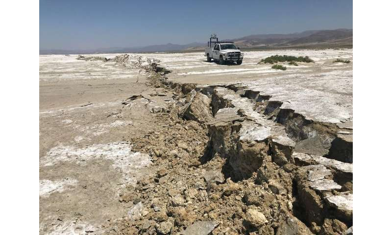 Seismologists monitor ridgecrest aftershocks using novel fiber optic network