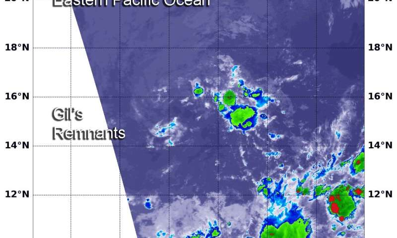 Short-lived Tropical Storm Gil gives a kick on NASA imagery