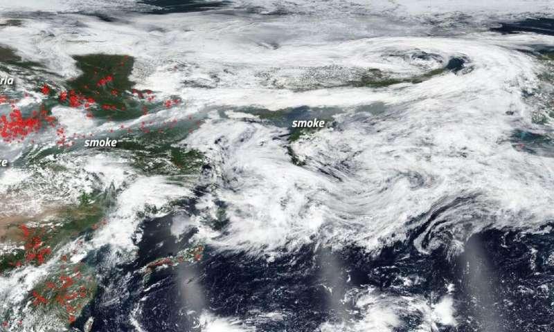 Siberian smoke heading towards U.S. and Canada