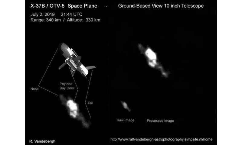 Skywatcher and satellite tracker photographs US air force's secret space plane in orbit!