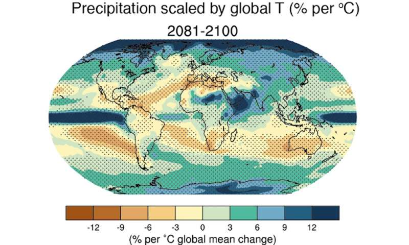 Slowing climate change could reverse drying in the subtropics