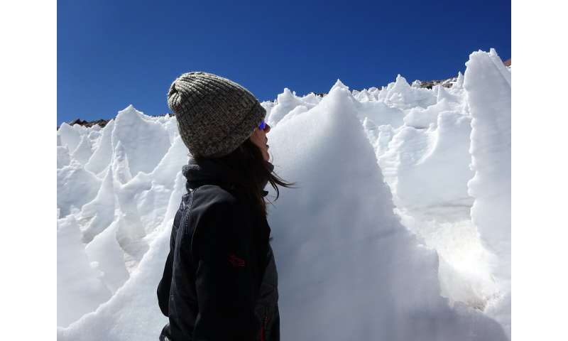 Snow algae thrive in high-elevation ice spires, an unlikely oasis for life
