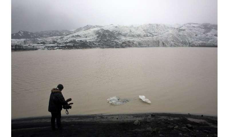 Solheimajokull has been receding every summer since 1996