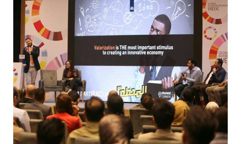 Some 70 young Iraqi innovators attended a recent three-day workshop in Baghdad on founding start-ups