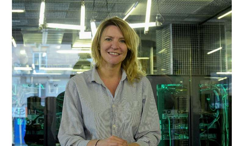 Sophie Viger, Managing Director of the 'Ecole 42' computer programming school, poses inside the school in Paris