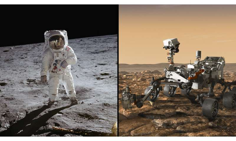 Space samples link NASA's Apollo 11 and Mars 2020