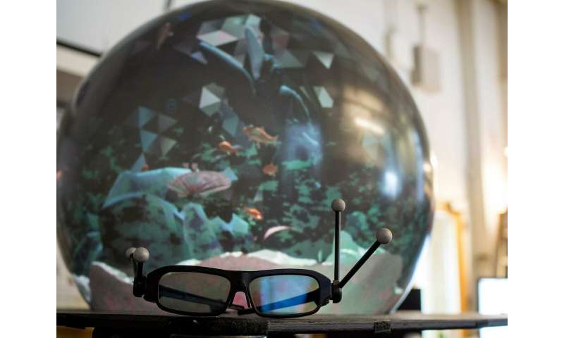 Spherical display brings virtual collaboration closer to reality