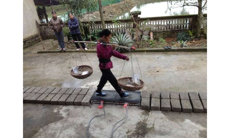 Springy bamboo poles help villagers carry more than their own body weight