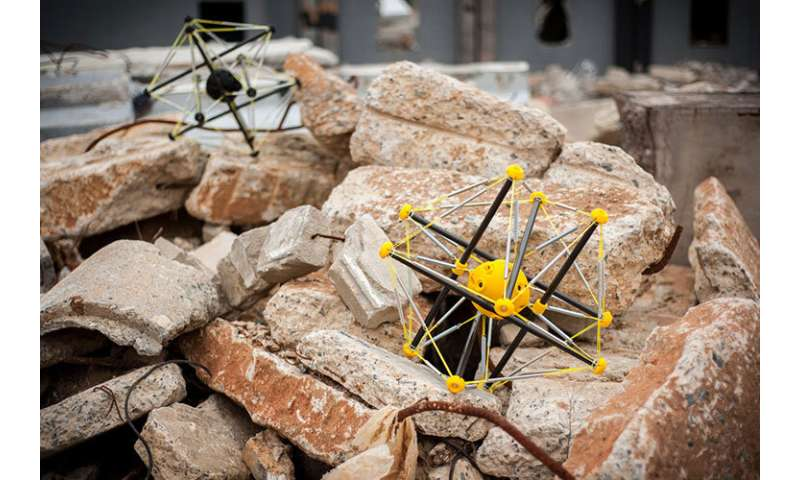Squishy robots can drop from a helicopter and land safely