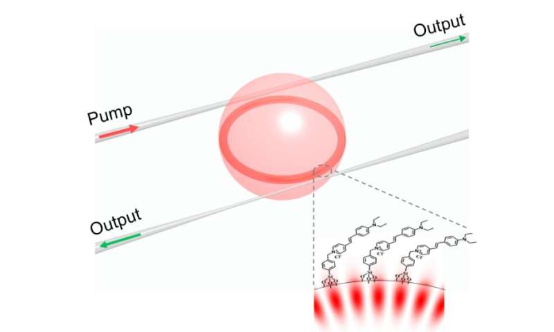 Surface functionalized microcavity boosts nonlinear optics