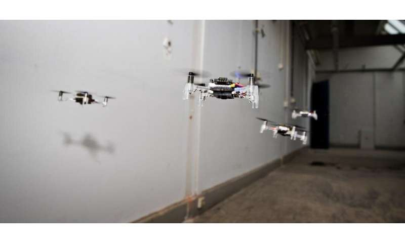Swarm of tiny drones explores unknown environments