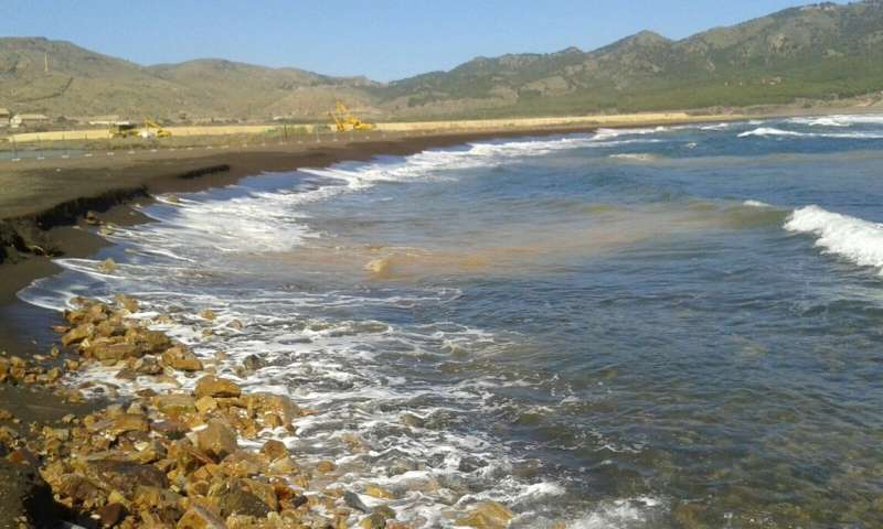 Tailings dumped into Portmán Bay continue to release metals into the sea 25 years later