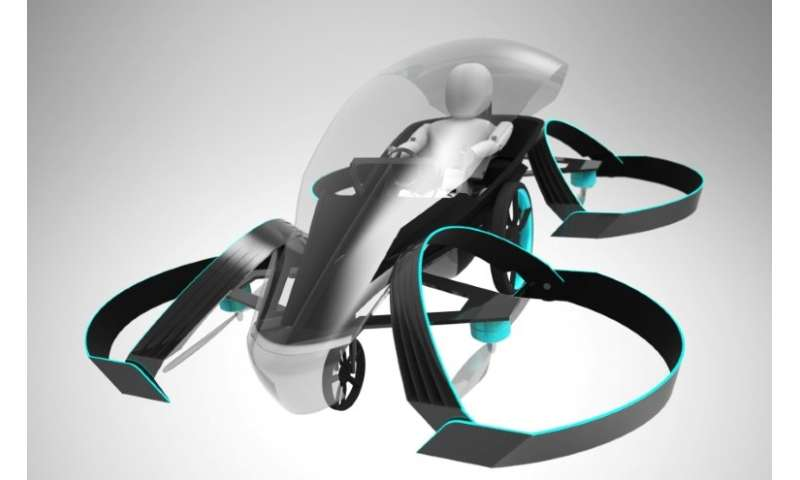 Talk of flying cars will be growing at the Consumer Electronics Show with some designs to be on display such as this image from