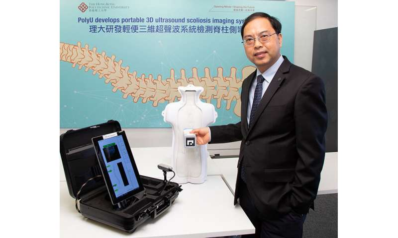 Team develops palm-sized 3-D ultrasound imaging system for scoliosis mass screening