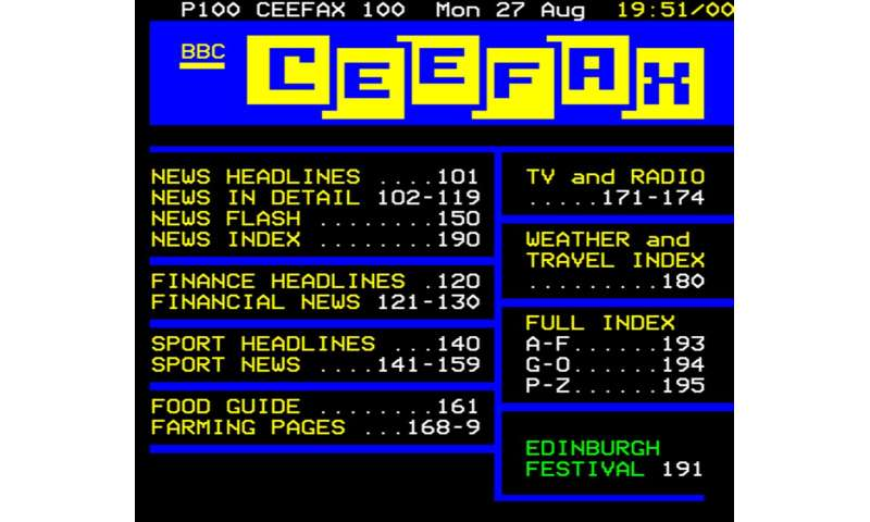 Teletext was slow but it paved the way for the super-fast world of the internet