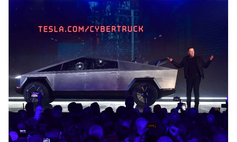 Tesla shares plunged 6.1 percent following the Cybertruck's bumpy launch