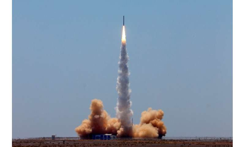 The 20-metre (66-foot) rocket designed by iSpace named Hyperbola-1 reached an altitude of 300 kilometres (186 miles), according