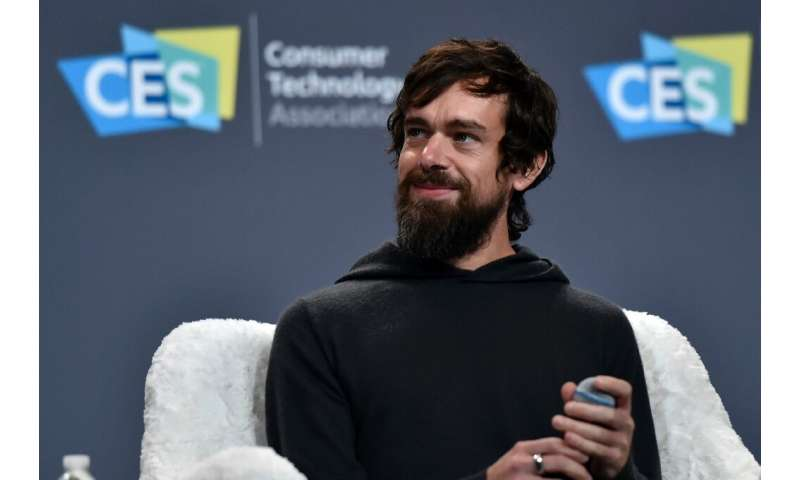 The account Twitter CEO Jack Dorsey, seen at a January 2019 event, was compromised by hackers who sent out a series of offensive