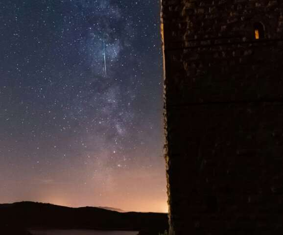 The annual Perseid meteor shower—seen here over eastern France—is a highlight for sky-watchers