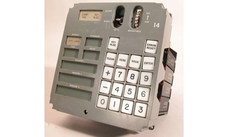 The astronauts would input two-digit codes for verbs and nouns, to carry out commands like firing thrusters, or locking on to a