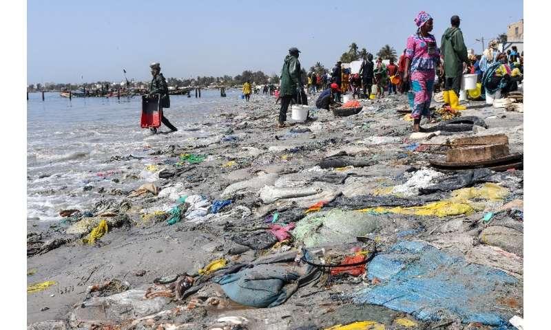 The beach at Dakar's Hann Bay gives an idea of Senegal's problem with waste
