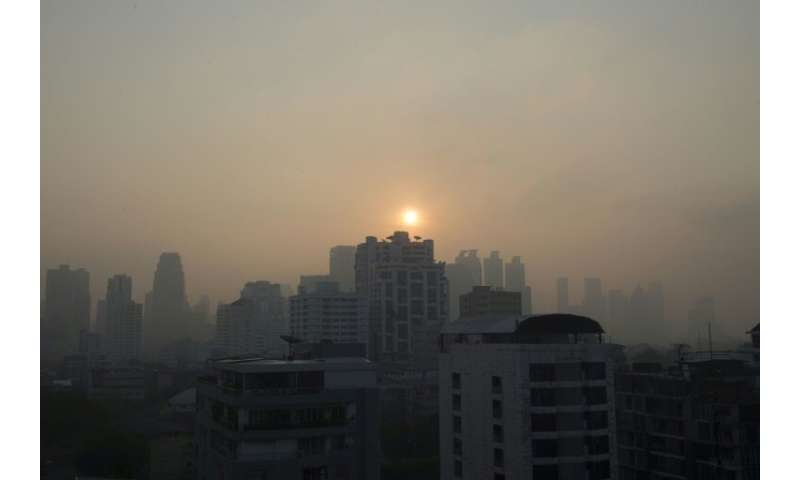 The blanket of toxic smog comes during Thailand's key tourist season