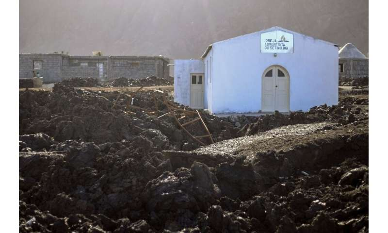 The church in the village of Portelo in Cape Verde's Cha das Caldeiras valley was rebuilt on the remains of the roof of the prev