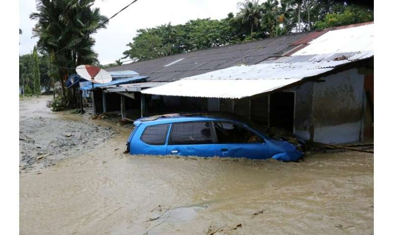 The disaster was triggered by torrential rain on Saturday