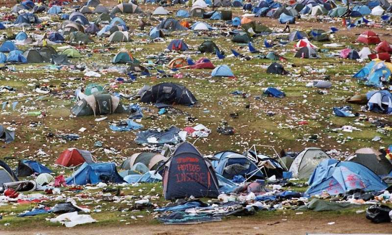 The environmental cost of abandoning your tent at a music festival