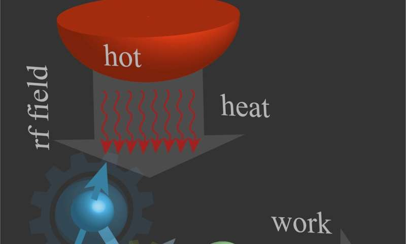 The experimental demonstration of a spin quantum heat engine