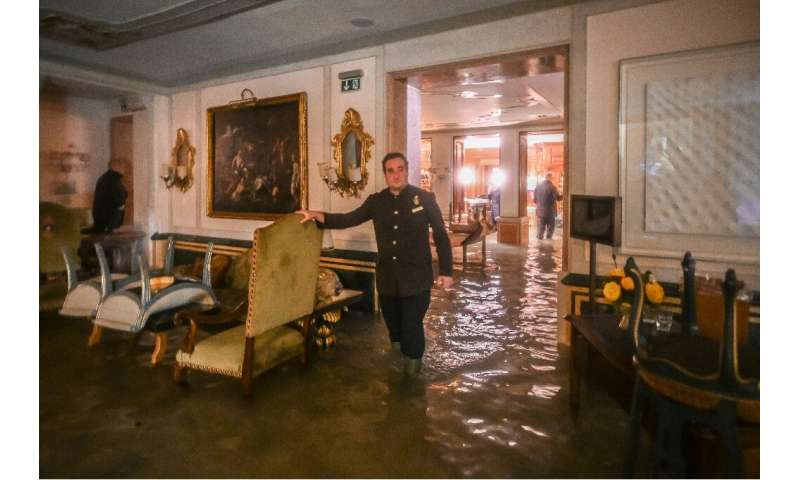The Gritti Palace hotel was among the buildings hit by the 'Alta Acqua'