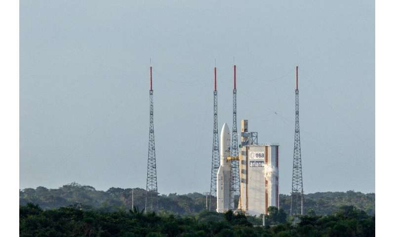The Guiana Space Centre in Kourou, on the northern coast of the French territory in South America