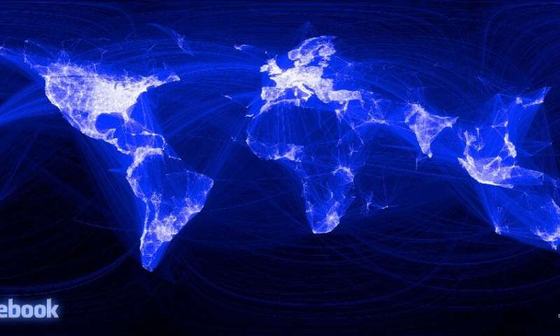 The internet has grown to connect billions of users around the world, as seen in this Facebook map from 2010, but has also allow