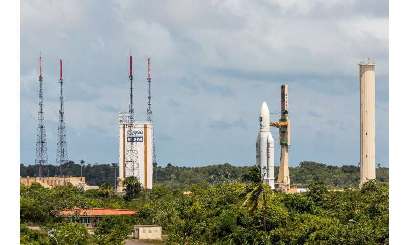 The launches were from the space centre in  Kourou in French Guiana