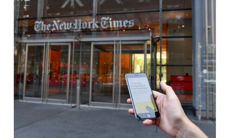 The number of New York Times online subscribers has jumped to 4.3 million