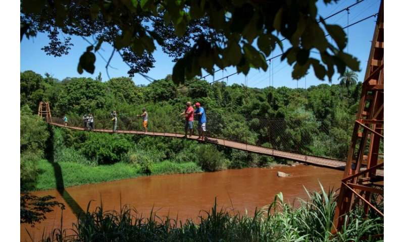 The Paraopeba River, now muddied with mining waste following the collapse of a dam, feeds into Brazil's second-longest river, th