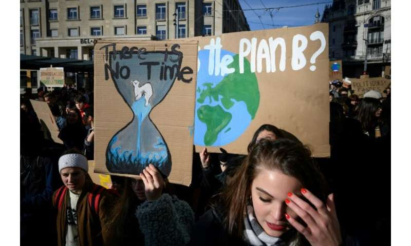 The protest was inspired by Greta Thunberg, a 15-year-old Swedish girl who since last August has been ditching school each Frida