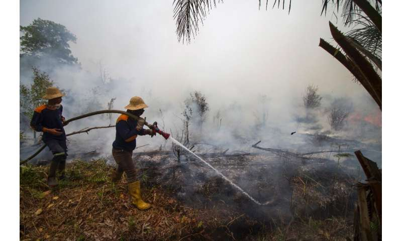 The rainy season—which usually starts in October—may be the only thing that can douse the fires in Indonesia