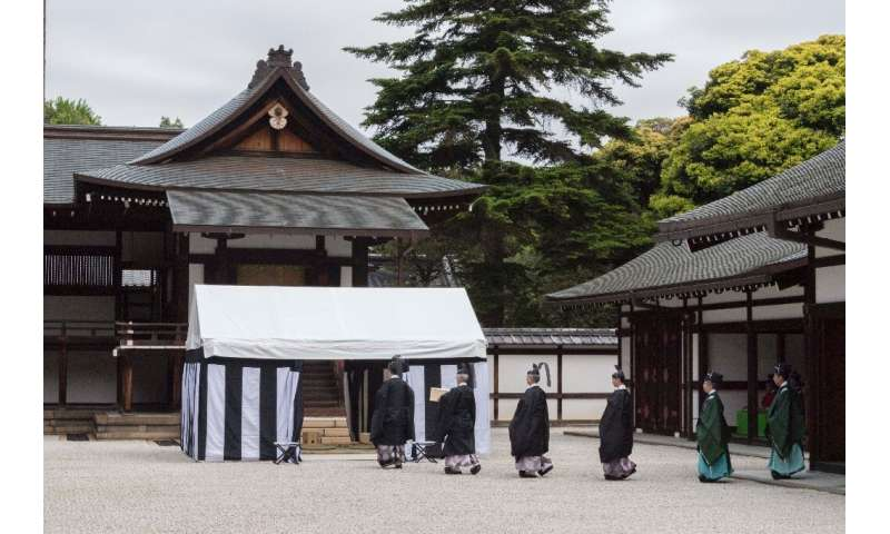 The rare Japanese ritual is conducted only after a new emperor takes the throne