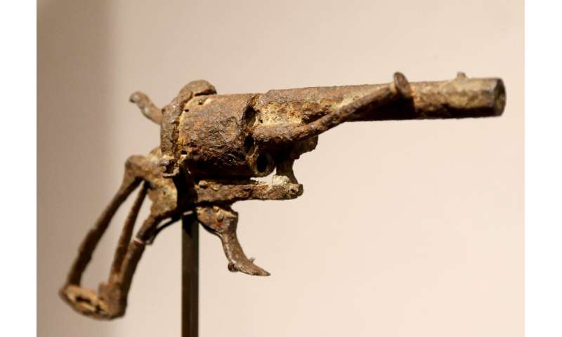 The real deal?: Art Auction said tests showed that the gun had been in the ground for 75 years, which would fit the timeline of