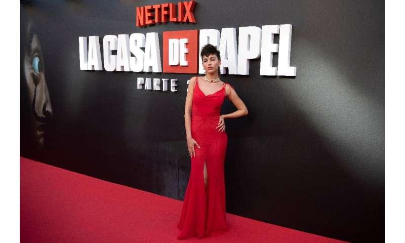 "The success of Netflix's ""Money Heist"" (""La Casa de Papel"")starring Spanish actress Ursula Corbero (pictured"